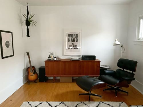 Chairs by The New Mid Century seen at Leisse Wilcox's Home, Cobourg - Eames Lounge Chair