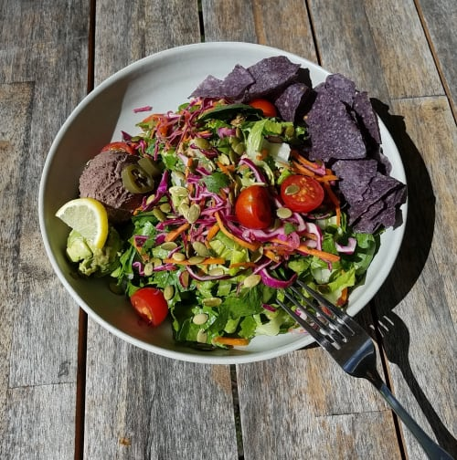 Large Salad Bowl   Ceramic Plates by Dowd House Studios   Healthy Being Café & Juicery in Jackson