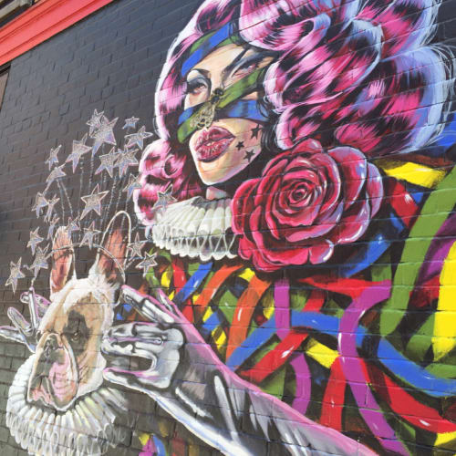 Murals by Serge Gay Jr. seen at Lush Lounge, San Francisco - Miss More and Jackson