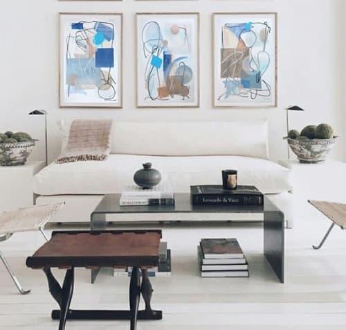 Paintings by Alice Watt seen at Private Residence, London - Blue Series Paintings