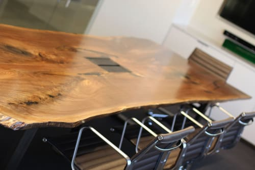 Tables by Steve Tiller seen at Sacramento Kings, Sacramento - Walnut Conference Table