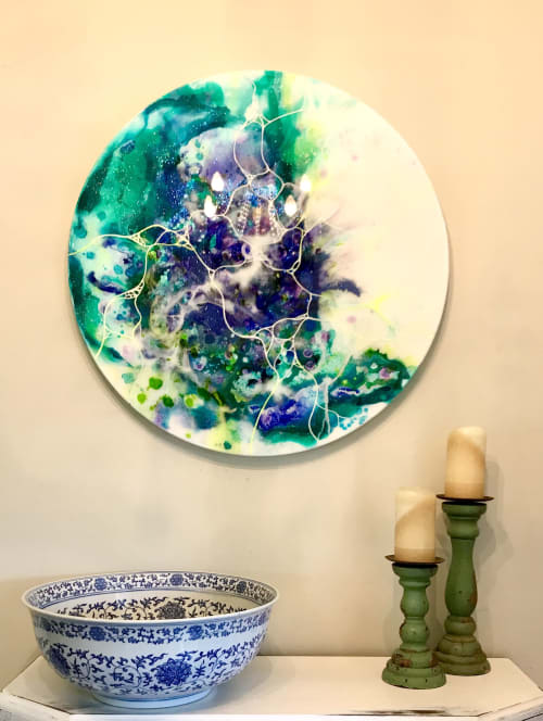 Paintings by Leda Daniel Art Studio seen at Private Residence, Auckland - The Whisper of Spring