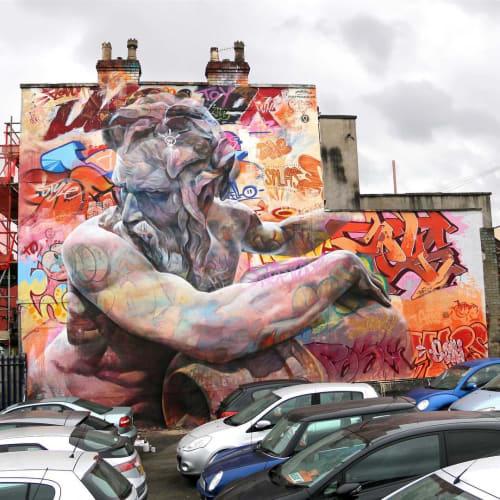 Street Murals by PichiAvo seen at Bristol, Bristol - Mural in Bristol