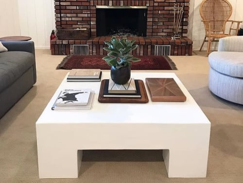 Tables by Oken House Studios seen at Private Residence, Lake Arrowhead - 'Scout' Custom Chunky Coffee Table
