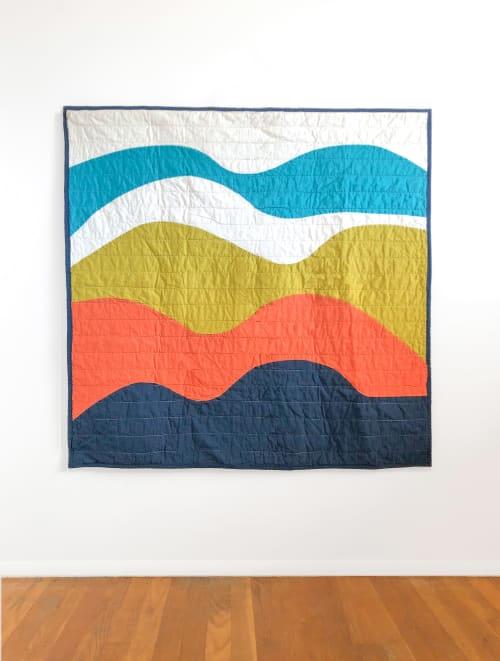 Linens & Bedding by Studio Prismatic seen at Creator's Studio, Portland - Aurora Quilt in 100% Organic Cotton
