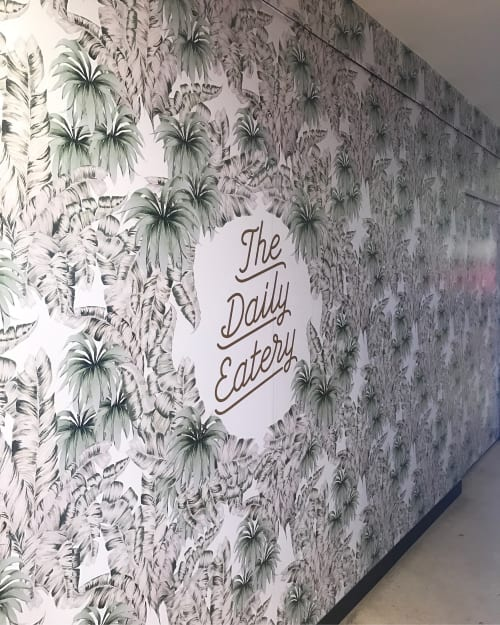 Wallpaper by Candice Kaye Design at The Daily Eatery, Sydney - Custom Wallpaper