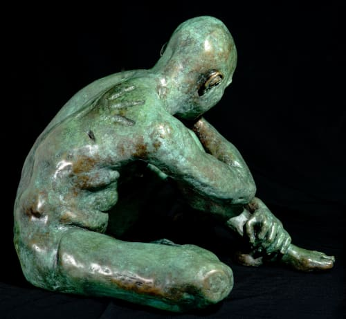 Sculptures by Teresa Wells Sculptor seen at Creator's Studio, Harborough Magna - Loss (part 1)