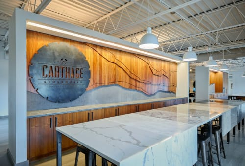 Interior Design by Hufft seen at Carthage Stoneworks, LLC, Kansas City - Carthage Stoneworks
