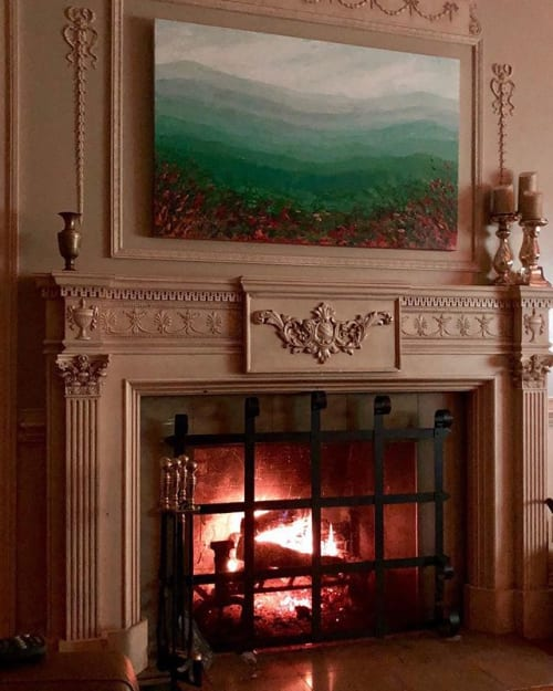 Paintings by Ann Marie Coolick Fine Art at Private Residence, Charlottesville - Skyline Fall Original Painting