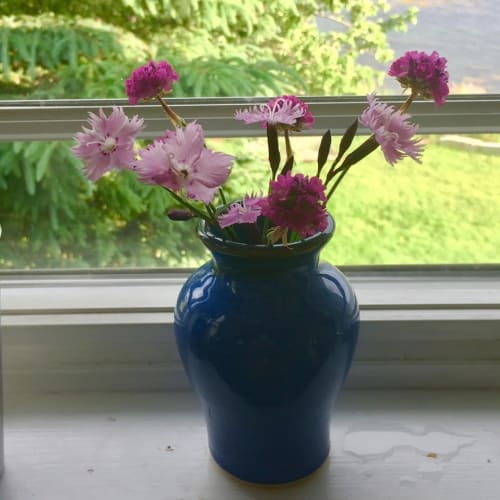 Vases & Vessels by Royal River Pottery seen at Private Residence, Yarmouth - Blue Mini Vase
