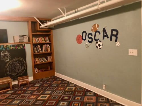 Murals by Untapped Resource seen at Private Residence, Saint Paul - Play Haven