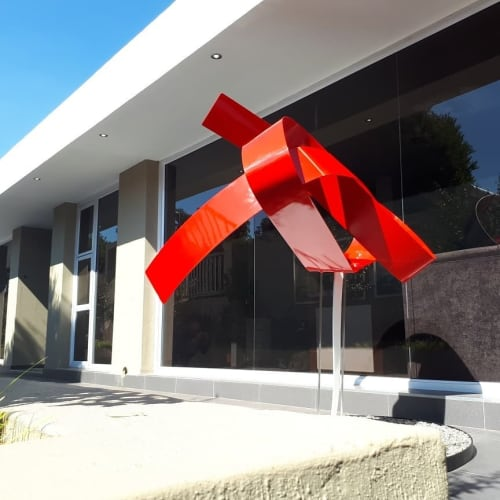 Sculptures by Mark L Swart seen at Arte Architects & Construction, Centurion - Heart and The World