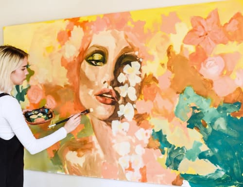 Paintings by Ashley Treece seen at Desert Inspired Home in the South, Little Rock - Painting