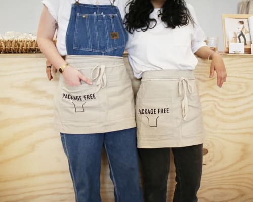 Aprons by BoWorkwear seen at Package Free, Brooklyn - Waist Aprons