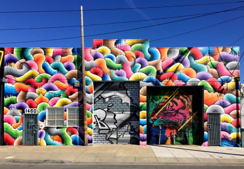 Street Murals by Ricky Watts seen at Egbert Avenue, San Francisco, CA, San Francisco - Bayview Live Mural