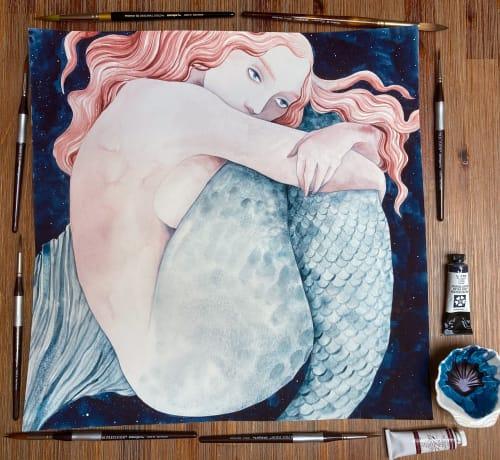 Paintings by Art by Kara Voorhees Reynolds seen at Private Residence - Sky Full of Song
