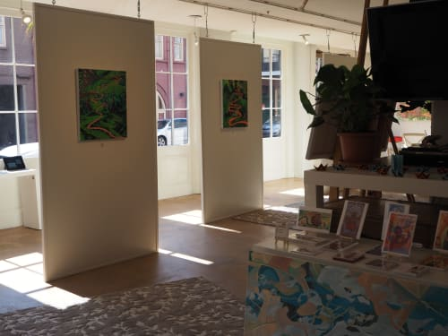 Paintings by Anne Blenker seen at Private Residence, New Orleans - River Of Palms Show