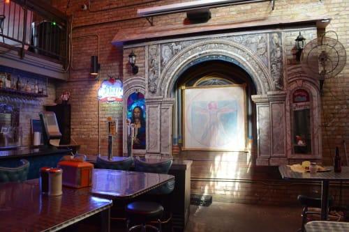 "DaVinci Pub 'Italian Gateway"" | Murals by Dan Terry | Roppolo's Pizzeria in Austin"