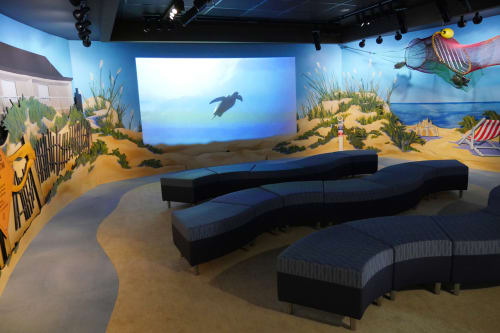 "Murals by Sisal Creative at South Carolina Aquarium, Charleston - ""Theater-In-The-Round"""