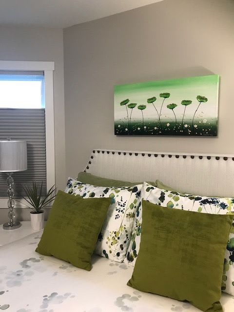 Paintings by Amanda Dagg seen at Private Residence, Yorkton - Lucid Poppies