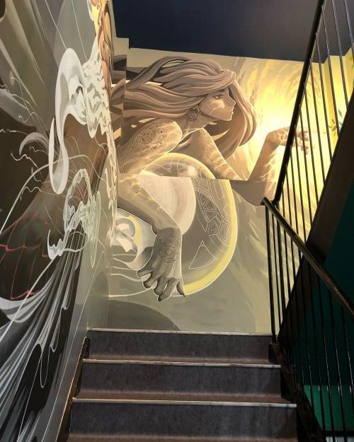 Street Murals by Kensuke Takahashi seen at Atsugi, Atsugi - Agaru Mural