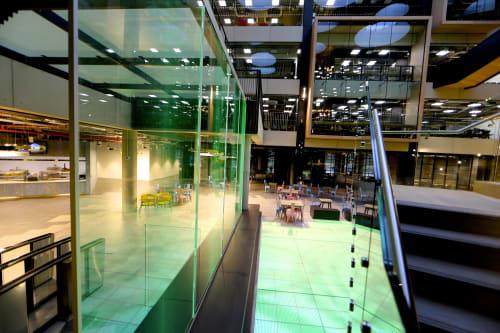 Architecture by ASB GlassFloor seen at Dublin, Dublin - Digital Lake and Digital Waterfall | Microsoft Headquarters Dublin