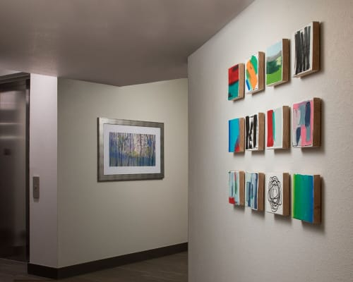 Art Curation by Liz Graham Art Consulting seen at Private Residence, Greenwood Village - Liz Graham Art Consulting- multi- family project on a budget