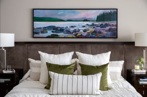 Paintings by Alison Philpotts seen at Private Residence, Calgary - West coast beach