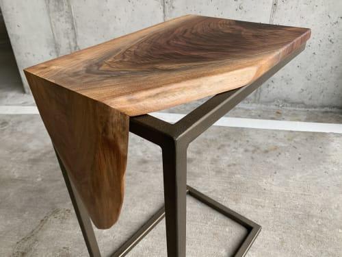 Waterfall Walnut C-Table | Tables by Hazel Oak Farms