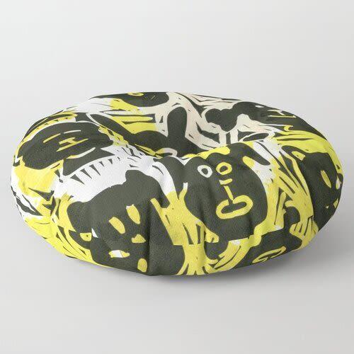 Pillows by Pam (Pamela) Smilow seen at Creator's Studio, New York - Round Pillow Dogs