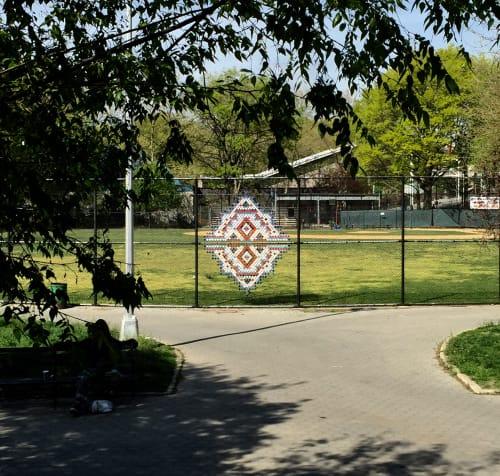 Public Sculptures by Capucine Bourcart seen at Marcus Garvey Park, New York - TROMPE L'OEIL