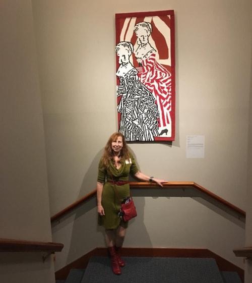 "Wall Hangings by Burns Studio seen at Ustanova za izradu tapiserija ""Atelje 61"", Petrovaradin - Revolution"