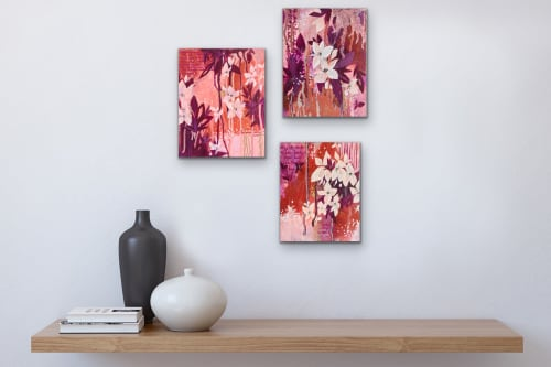 Paintings by Ashley Rose seen at Private Residence - Slow Crawl I, II, III
