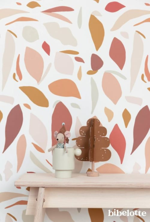 Wallpaper by Bibelotte seen at Private Residence, Sleeuwijk - Wallpaper Fruity pink