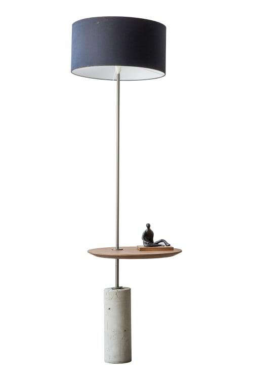 "Lamps by Alessandra Delgado Design seen at Private Residence - São Paulo - SP, Pinheiros - ""Giro"" Minimalist Floor Lamp"