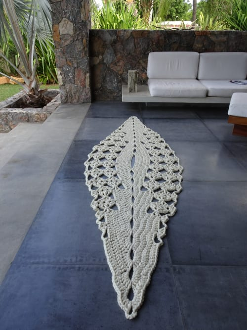 Rugs by Nancy Winarick at Playa Majahua - la saladita