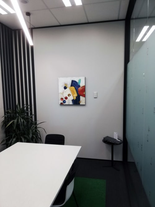 Paintings by Kirsty Black seen at RSM New Zealand (Auckland), Auckland - Boulder Tumble