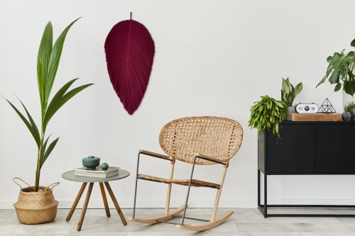 XL Fiber art leaf sculpture- PARNA | Wall Hangings by YASHI DESIGNS