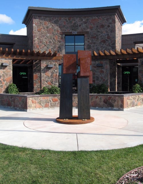 Public Sculptures by Cordell Taylor seen at Pleasant Grove, Pleasant Grove - Geomet Series #162