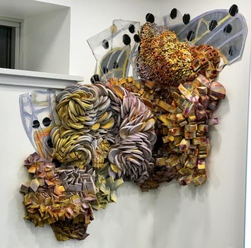 Site Specific Wall Construction | Art & Wall Decor by Margery Amdur | Richard Nicholas Hair Studio in Philadelphia