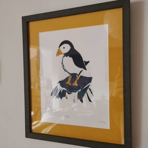 Art & Wall Decor by Lou Thompson seen at Private Residence, Warwick - Puffin