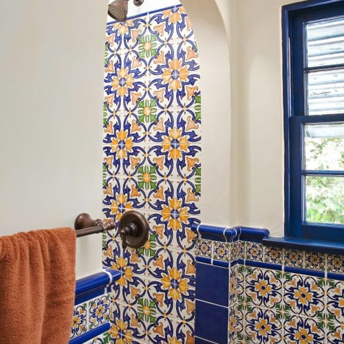 Tiles by Avente Tile seen at Private Residence, San Diego - Barcelona La Merced Tile