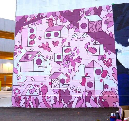 Street Murals by Kyle Knapp seen at Gravity, Columbus - Bird Neighborhood