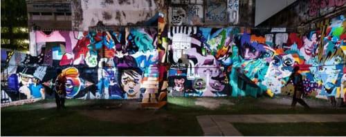 Street Murals by Ruskig Ångest seen at Bangkok, Bangkok - Love and Reality, 2016