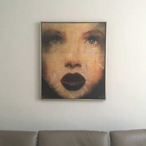 Paintings by Barry Wilson Art seen at Private Residence, London - Painting (face)
