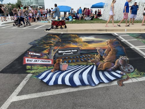 Street Murals by Rogers Create seen at West Bend, West Bend - Wisconsin Dells street mural