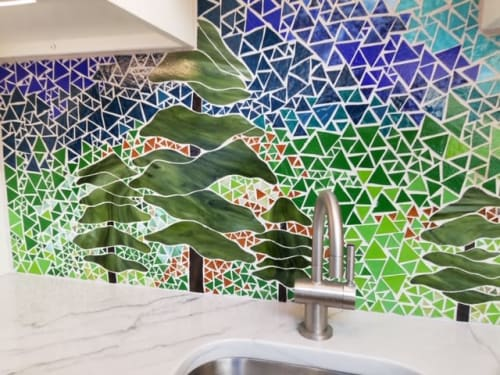 Interior Design by Annie Sinton Glass seen at Private Residence, Chadds Ford - Kitchen Backsplash