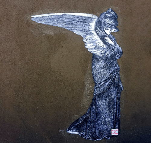 Murals by Made of Hagop seen at Gjelina, Los Angeles - Snakeface
