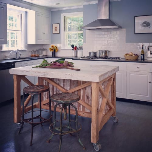 Tables by Groundwork Home seen at Private Residence, Philadelphia - Kitchen Island