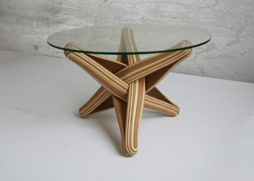 "Tables by JAN PAUL seen at Private Residence - Maastricht, Netherlands, Maastricht - ""Lock""   bamboo coffee table"